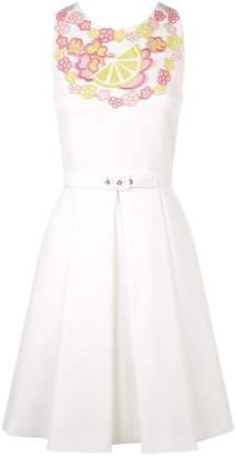 Moschino Lemon Appliqué Mini Dress