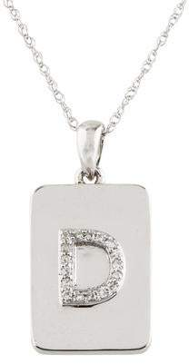 14K Diamond 'D' Pendant Necklace