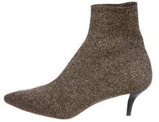 Loeffler Randall Metallic Knit Ankle Boots