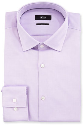 Boss Hugo Boss Juan Slim Fit Cotton Dress Shirt, Light Purple $165 thestylecure.com