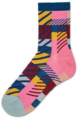 Hysteria By Happy Socks Daria Graphic-Knit Ankle Socks