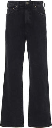 A Gold E Agolde Pinch Waist High-Rise Straight-Leg Jeans Size: 24