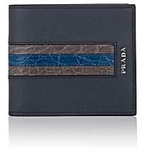 Prada Men's Leather Billfold - Blue