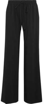 Milly Crepe Wide-Leg Pants