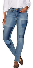 Martha Stewart Regular Patchwork 5-PocketAnkle Jeans