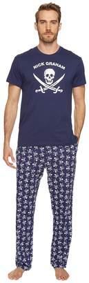 Nick Graham Jolly Roger Short Sleeve Lounge Set Men's Pajama Sets