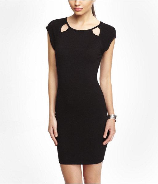 Express Cap Sleeve Cut-Out Sheath Dress