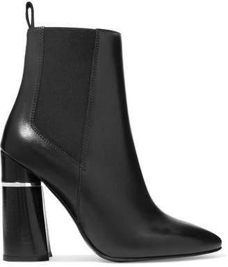 3.1 Phillip Lim Drum Leather Ankle Boots - Black