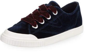 Tretorn Marley Lace-Up Velvet Sneakers