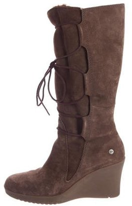 UGG Australia Elsey Suede Boots $145 thestylecure.com