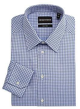 Emporio Armani Men's Checked Dress Shirt