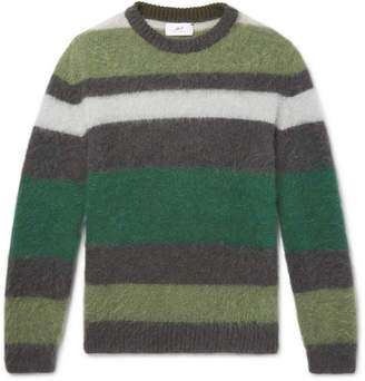 Mr P. Striped Mohair-Blend Sweater