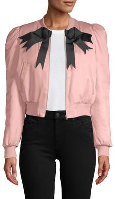 Manoush Puffy Sleeve Bomber Jacket