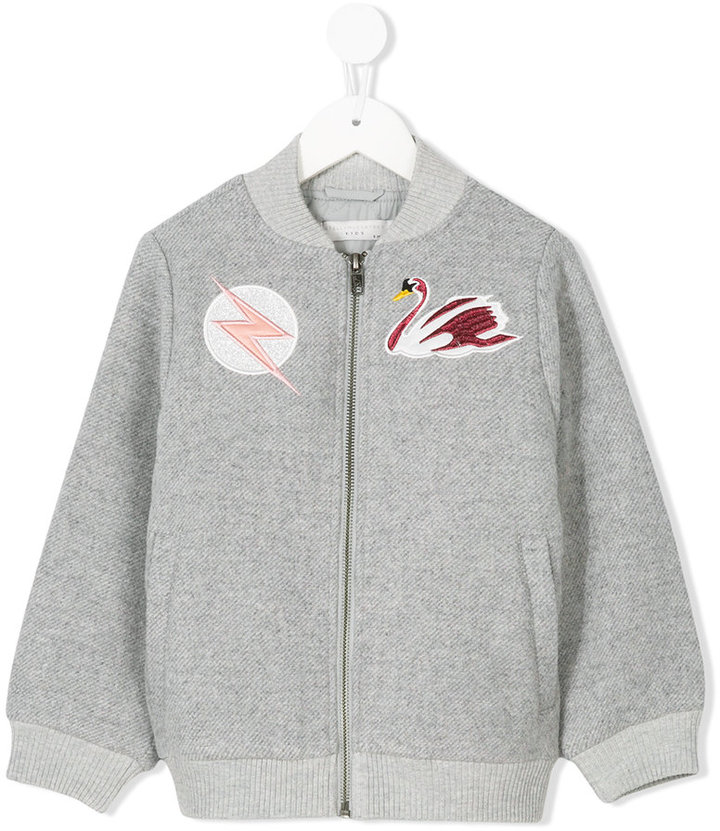 Stella McCartney Swan patch bomber jacket