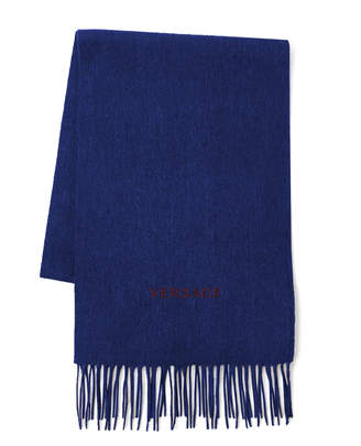 Versace Logo Wool Scarf