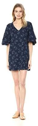 Lucky Brand Women's Printed Ruffle Mini Dress