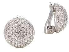 Nina Aliona Swarovski Crystal Button Clip-On Earrings