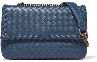 Bottega Veneta - Olimpia Baby Intrecciato Leather Shoulder Bag - Blue $2,200 thestylecure.com