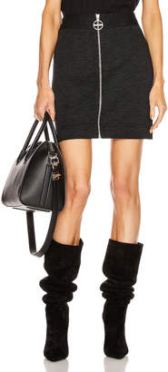 Givenchy Mini Pencil Zipped Skirt in Dark Grey | FWRD