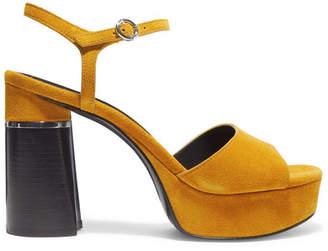 3.1 Phillip Lim Ziggy Suede Platform Sandals - Mustard