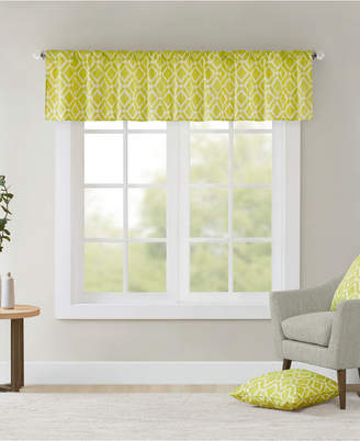 "Madison Park Delray Diamond-Print 50"" x 18"" Twill Window Valance"