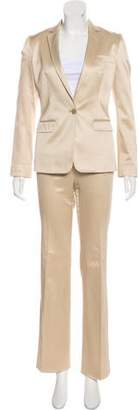Dolce & Gabbana Notch-Lapel Satin Pantsuit