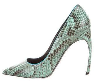 Nicholas Kirkwood Snakeskin Pointed-Toe Pumps