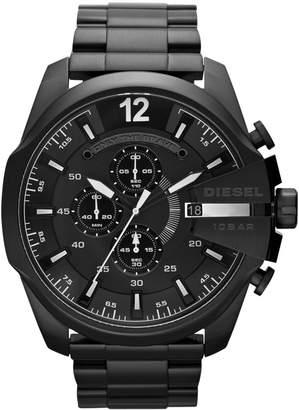 Diesel Men's Chronograph Black Ion-Plated Stainless Steel Bracelet Watch 51mm DZ4283