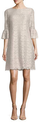 Eliza J Scalloped Lace Shift Dress