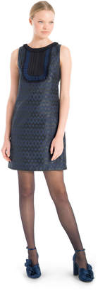 Max Studio metallic jacquard dress