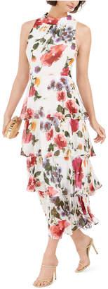 SL Fashions Floral-Print Tiered Maxi Dress