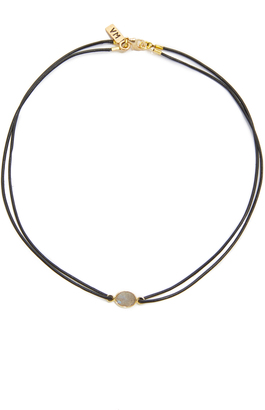Vanessa Mooney Madian Moonstone Leather Choker $50 thestylecure.com