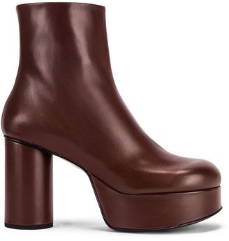 Jil Sander Chunky Ankle Boots in Dark Brown | FWRD