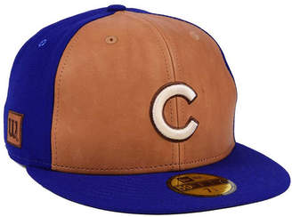 New Era Chicago Cubs X Wilson Leather Front 59FIFTY Fitted Cap