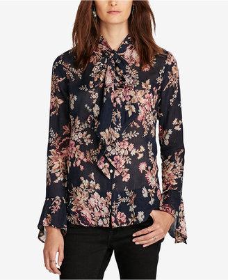 Denim & Supply Ralph Lauren Floral-Print Tie-Neck Blouse $125 thestylecure.com
