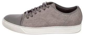 Lanvin Pebbled Basket Sneakers