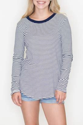 Cherish Striped Patch Top