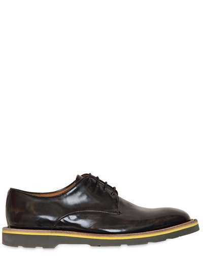 Paul Smith Brushed Leather Derby Lace-Up Shoes
