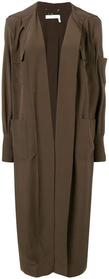 open front long coat