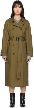 The Loom Khaki Raglan Long Trench Coat