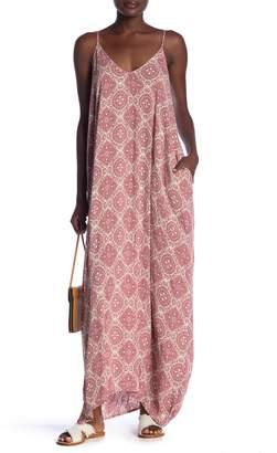Love Stitch Printed Maxi Dress