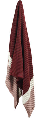 Webster Temple & Clay Stripe Knitted Cotton Throw