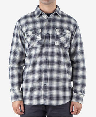 Rip Curl Men Draco Regular-Fit Ombre Plaid Flannel Shirt