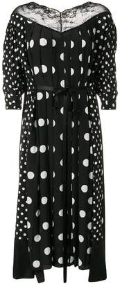 Marc Jacobs lace-trim polka dots dress