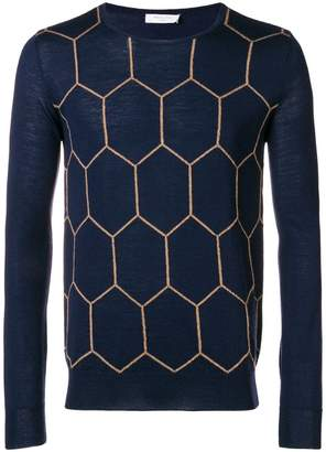 Boglioli knit patterned sweater