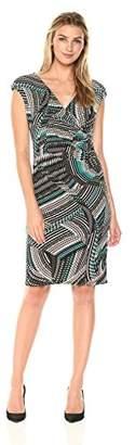 Kasper Women's Zig Zag Swirl Print Ity Dress