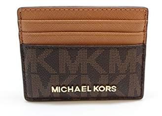 Michael Kors Jet Set Travel Large Card Holder Brown/ Acorn