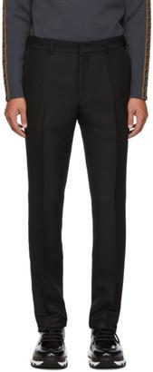 Fendi Black Shiny Gabardine Trousers