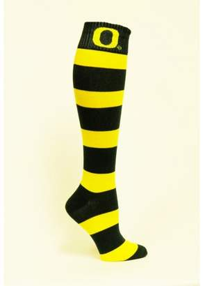 Donegal Bay Oregon Green & Gold Stripe Dress Sock