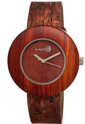 Earth Wood Ligna Red Leather-Band Watch Ethew1403